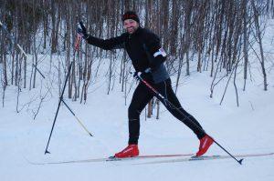 Raggis third time on xc skis