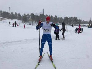 Per-Martin Kuhmunen, IFK Kiruna var snabbast i mål på sträckan 23 km