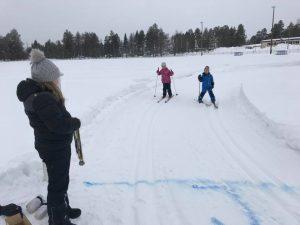 Barnens Tornedalslopp och medaljutdelaren Alma Lahti