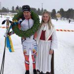 Herrsegraren Viktor Mäenpää och kranskullan Alva Niska