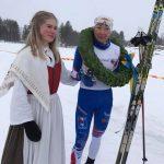 Kranskullan Alva Niska och damsegraren Nina Lintzén