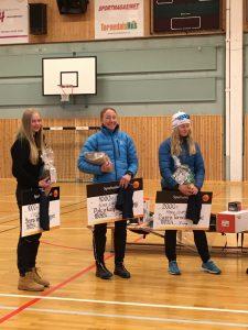 Damprispallen: Evelina Niemi (3:a), Nina Lintzén (1:a) och Maria Olofsson (2:a)