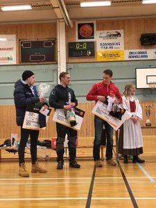 Herrprispallen: Viktor Mäenpää (1:a), Jonny Nilimaa (2:a) och Tuomas Myllykoski (3:a)
